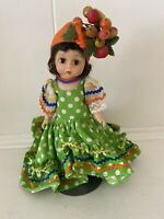 """Vintage Madame Alexander Brazil Doll 8"""" Bent Knee"""