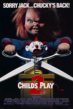 "CHILDS PLAY 2 Movie Silk Fabric Poster 11""x17"" Horror Chucky"