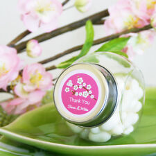 96 Cherry Blossom Personalized Wedding Favor Candy Jars