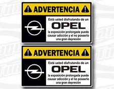 Pegatina Sticker Vinilo Decal Autocollant Adesivi ADVERTENCIA OPEL N262