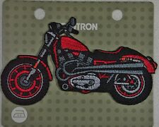 BEUTRON Iron On Motif Applique Red Motorcycle BM3310 Embroidered 9312919283100