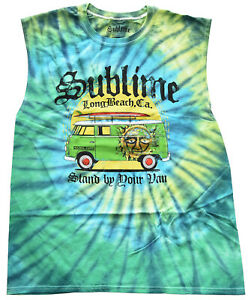 Sublime Stand By Your Van Tie Dye Men's Muscle Tank Top New (sizing runs Large)