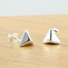925 Sterling Silver Pyramid Stud Earrings, 8 mm