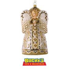 Decorative Angel 2016 Hallmark Heritage Blown Glass Ornament Poland Gold Praying