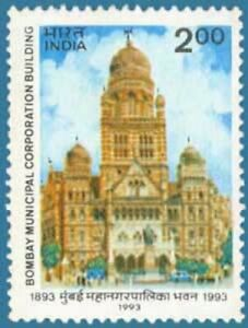 INDIA 1993 Centenary Greater Bombay Municipal Corporation Building Stamp MNH