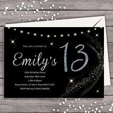 PERSONALISED BIRTHDAY PARTY INVITATION 13th 16th 18th 21st 30th 40th 50th ANY AG