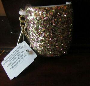 BRAND NEW W/ TAG Bath & Body Works Gold Glitter Pocket**BAC Holder Sleeve