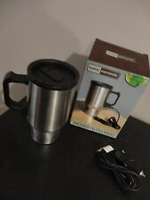 HOME ELEMENTS STAINLESS STEEL HEATED AUTO MUG