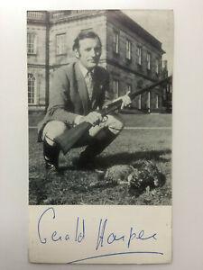 Gerald Harper - Hadleigh - Gazette - Original Hand Signed Autograph