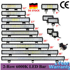 4~44 Zoll 12V 24V LED Lichtbalken Arbeitsscheinwerfer Offroad Light Bar SUV ATV