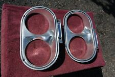 1963 Plymouth Belvedere, Fury, Sport Fury Left and Right Headlight Bezels Orig.