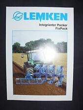 0152) LEMKEN Intergrierter Packer - FixPack - Prospekt Brochure 12.1996