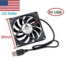 5V USB 80mm x 10mm 8010s DC Brushless Cooling Industrial Axial Case Fan 8010