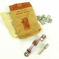 Vintage Art Deco Pull Cabinet Catch Red Stripe National Lock N61-3333A