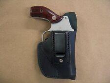 "iwb holster s&w smith & wesson j frame 2"" inch barrel revolver black leather"