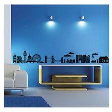 1 Stadt Skyline London Wandtattoo Wandaufkleber Wandsticker Schwarz Wohnzimmer