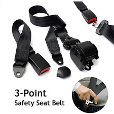 3 Point Retractable Adjustable Car Safety Seat Lap Belts Harness Kit for Car Van