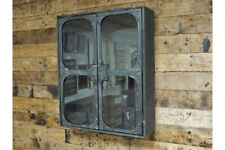 Vintage Industrial Style Glazed Wall Cabinet