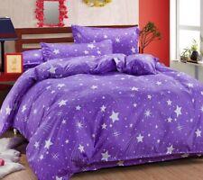 Star Print Blue/Purple Bedding Set Duvet Cover+Sheet+Pillow Cases Bedding Room W