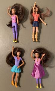 Mattel Barbie Mini Dolls Lot of 4 Mcdonald's Multiracial Happy Meal Toys Figures