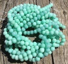 8mm Natural Green Amazonite Round Beads Oz Seller