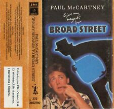 "PAUL McCARTNEY ""GIVE MY REGARDS TO BROAD STREET"" RARE SPANISH CASSETTE & BOOKLET"