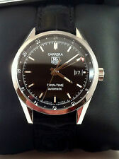 Tag Heuer Carrera Calibre 7 Twin Time Mens  Automatic Watch Excellent Cond.