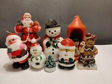 VTG Retro Bundle Collection Christmas Candles Old Kitsch x 8 Snowman Santa Claus