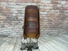 Antique Leather 1901 Noah Webster International Dictionary w/ Reference History