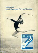 Deutscher Sport 7/1959 Zeitschrift der DDR Turn und Sportfest Leipzig