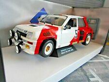 RENAULT 5 Turbo Rallye Du Var France #5 Prost Marlk boro Snobeck 82 Solido 1:18