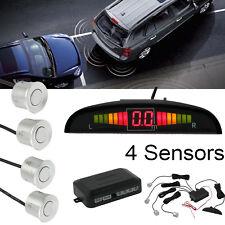Silver Parking Sensor Reverse Radar Alarm System Back Up Buzzer Alert Audio LCD