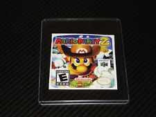 Mario Party 2 N64 Cartridge Replacement Game Label Sticker Precut