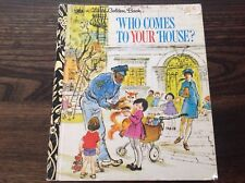 Vintage 1973 Little Golden Book WHO COMES TO YOUR HOUSE? Hardcover LOVELY