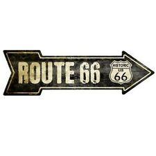 "Vintage Route 66 Arrow Novelty Metal Sign 5"" x 17"""