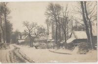 Aylesbury Area, Buckinghamshire 1904 Winter Snow RP Postcard B793