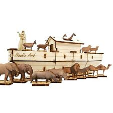 NOAH'S ARK  DIY Wood 3D Puzzle- Self Assembly Craft  Made in the Holy Land