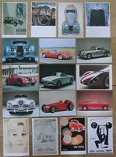 ALFA ROMEO Postcard Set of 35 All Different Giulietta 2900 Proteo 159 6c 33 1900