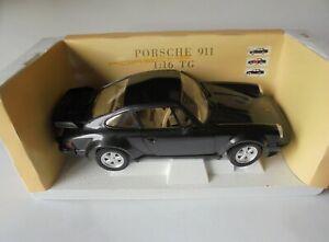 Porsche 911 Metallic Black 1/16 Scale Diecast Polistil Near Mint Condition