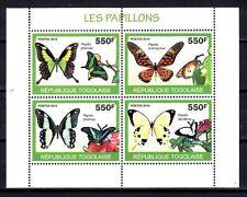 Togo 2010 papillons n° 2060 à 2063 feuillet neuf ** 1er choix