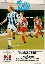 More details for 92/93 kilmarnock v hamilton (15th may – promotion clincher)