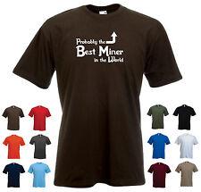 """""""vermutlich besten Miner in der Welt """"lustige Mining Bitcoin Geburtstag T-Shirt"""