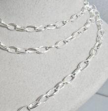 925 Sterling Silber Damen Ankerkette Halskette für Charms 60 cm / 3,5 mm + Etui