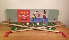 Vintage Chad Valley Carpet Golf Game, Complete - Retro, Rare Collectable