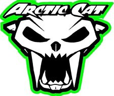 Arctic Cat skull snowmobile decal sticker