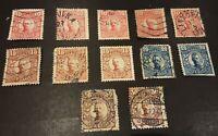 Sweden  1910-19 Gustav V stamps 10,15, 20 and 30 ore selection.
