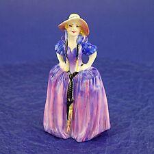 "Rare Vintage Royal Doulton 'Patricia' M28 Miniature Figurine - 10.25cm/4"" High"