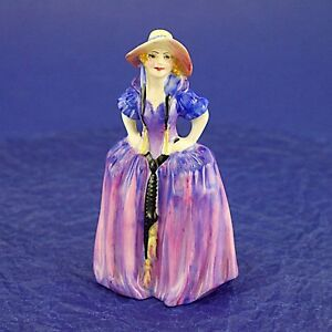 "Rare Vintage Royal Doulton 'Patricia' M28 Miniature Figurine - 10.25cm/4"" High"