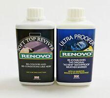 "Renovo Soft Top Canvas Reviver ""Dark Blue"" & Waterproofer - 2 x 500ml."
