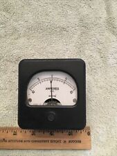 Vintage Radio Panel Meter Weston Amperes Dc Center Scale 0 10 Me535